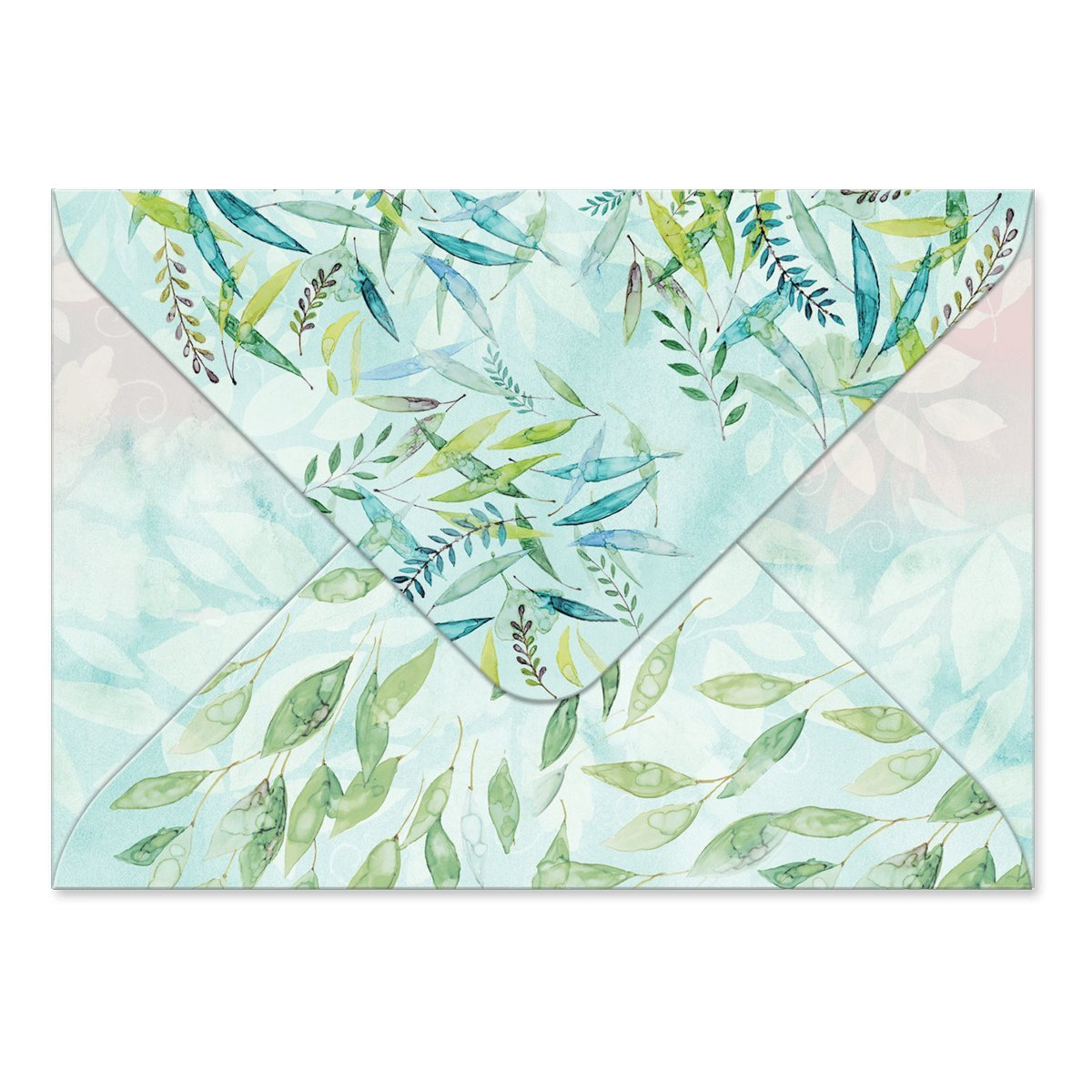 Pagoda Peacock Decorative Pouch Note Cards Punch Studio Set of 10
