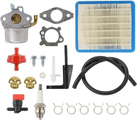 Amazon Com Carburetor Air Filter Spark Plug Fuel Hose Shut Off Valve Carb For Briggs Stratton Craftsman Tiller Intek 190 6 Hp 206 5 5hp Engine Motor 6 5 Hp Intek Power Washer