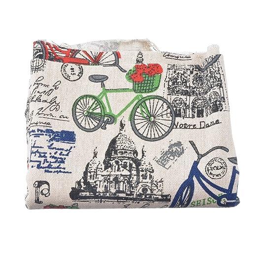 Souarts colorido bicicleta patrón tela de lino conjuntos de ...