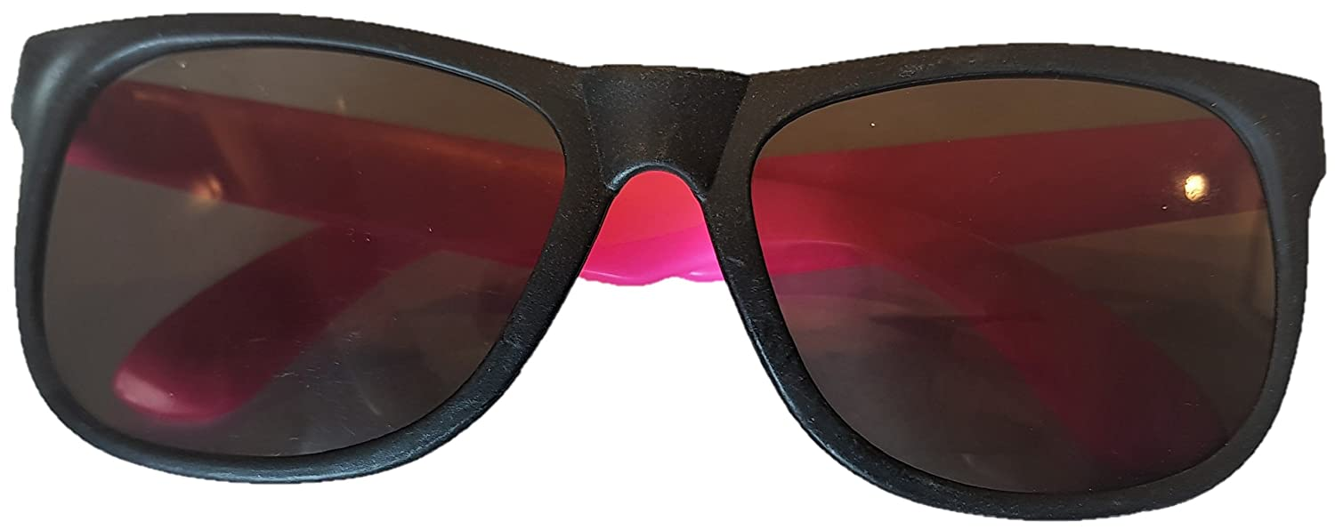 Pink RuiB9 Fashion Party Sunglasses Waterproof Shockproof Plastic with Durable Rb9 Hinges