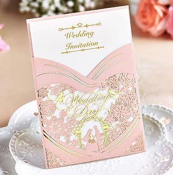 amazon com womhope 50 pcs elegance gold stamping couple laser cut