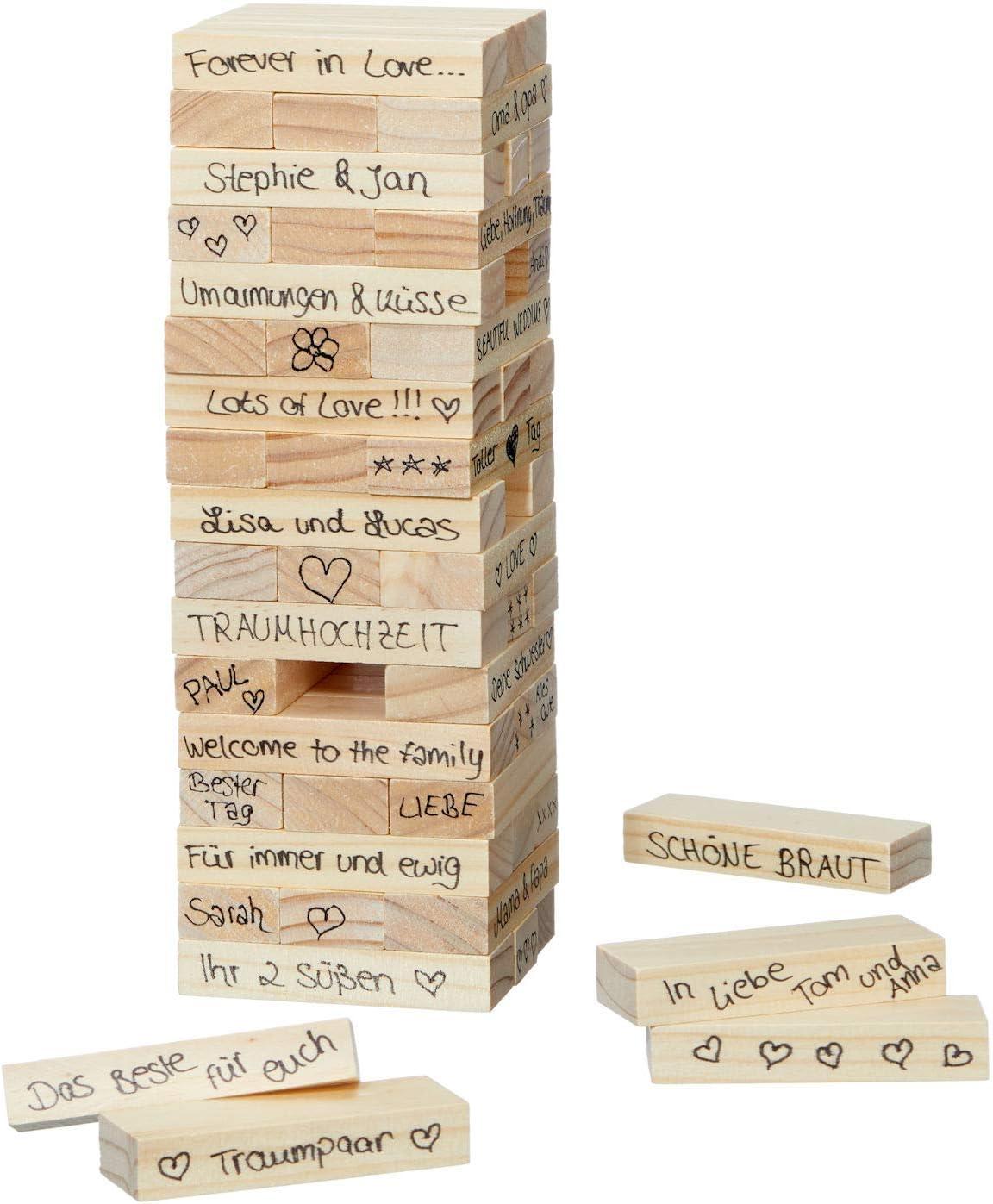 Spetebo Torre de Madera para Bodas y Invitados, Ideal como Regalo: Amazon.es: Juguetes y juegos