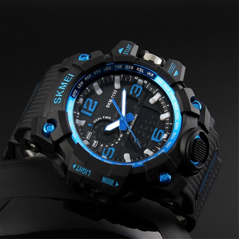 ea82cfbb4725 Hombre Militar analógico Digital cuarzo electrónico reloj deportivo  multifunción  Amazon.es  Relojes