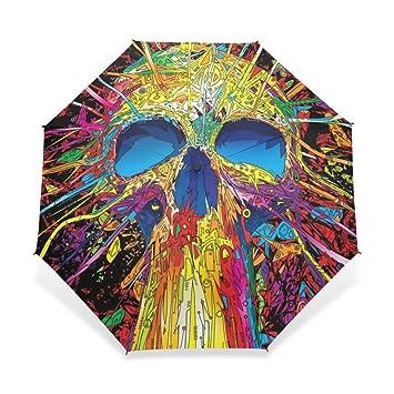 zoeo plegable compacta resistente al viento paraguas de viaje Vector azúcar calavera