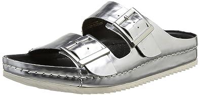 62bc15ea9 Clarks Women s Netrix Rose Open Toe Sandals Silver Size  3.5  Amazon ...