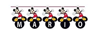 VERBETENA Guirnalda Mickey Mouse Classis Pon tu nombre ...