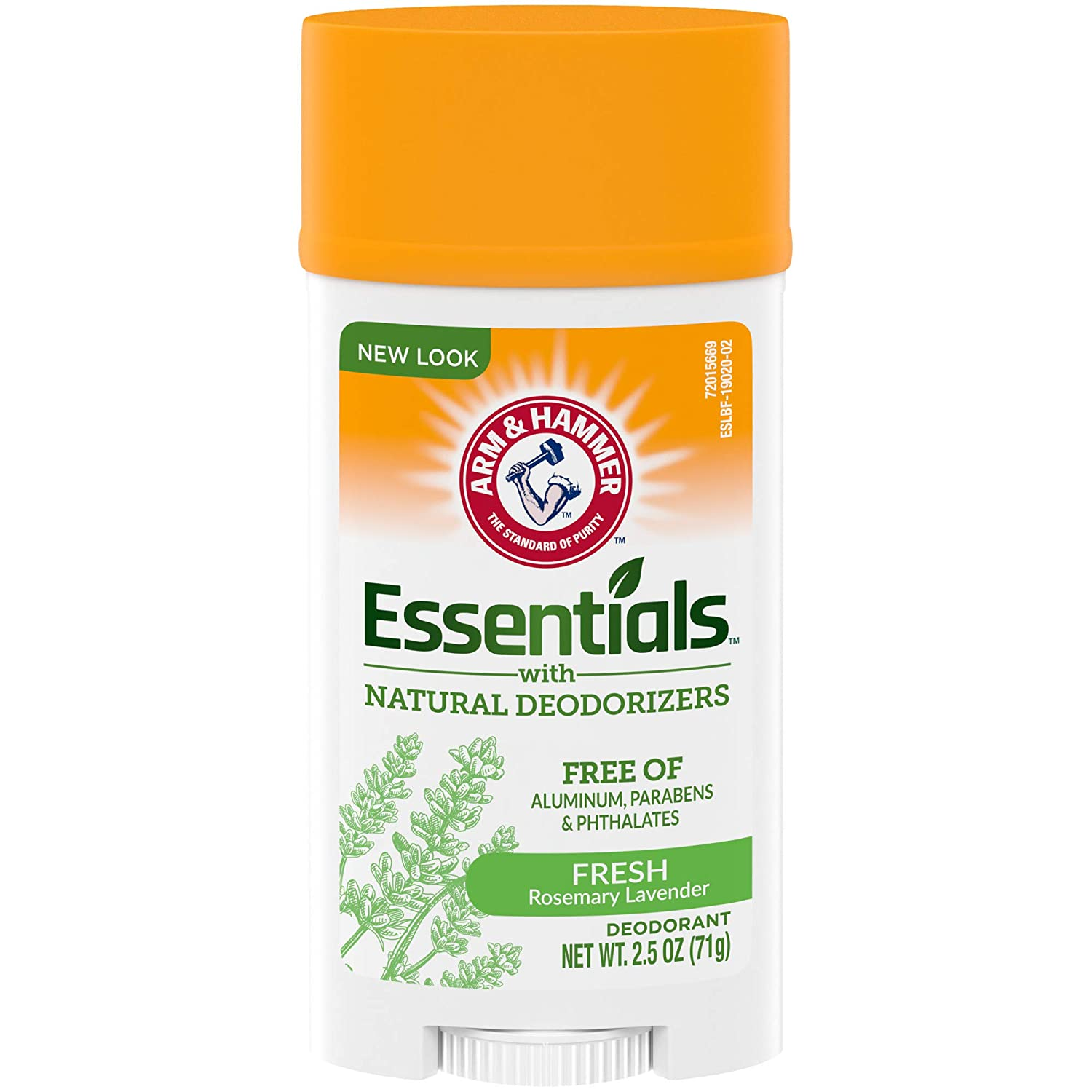 Arm & Hammer Essentials Deodorant with Natural Deodorizers, Wide Stick, Fresh 2.5 oz (Pack of 6)