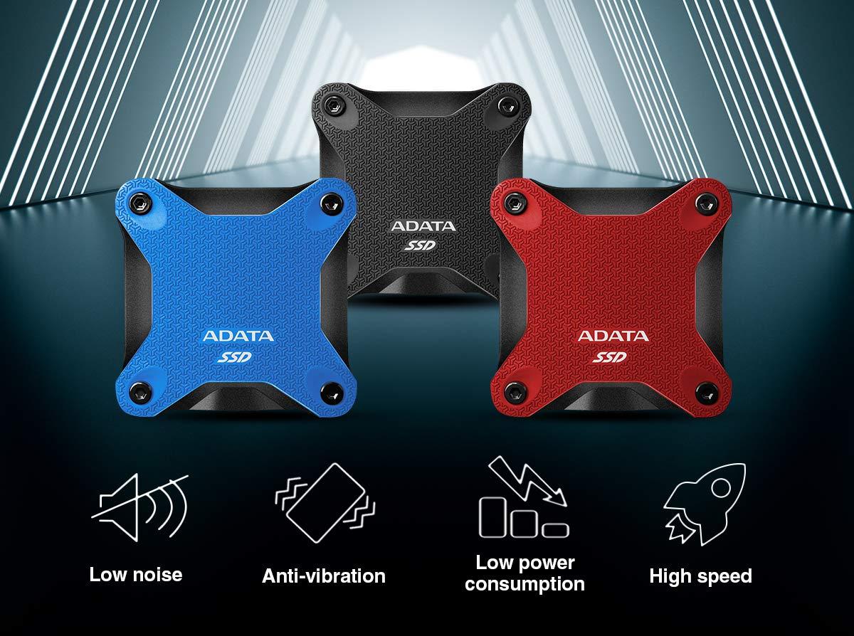 Bleu ADATA 240GB SD600Q Disque SSD Externe USB 3.1