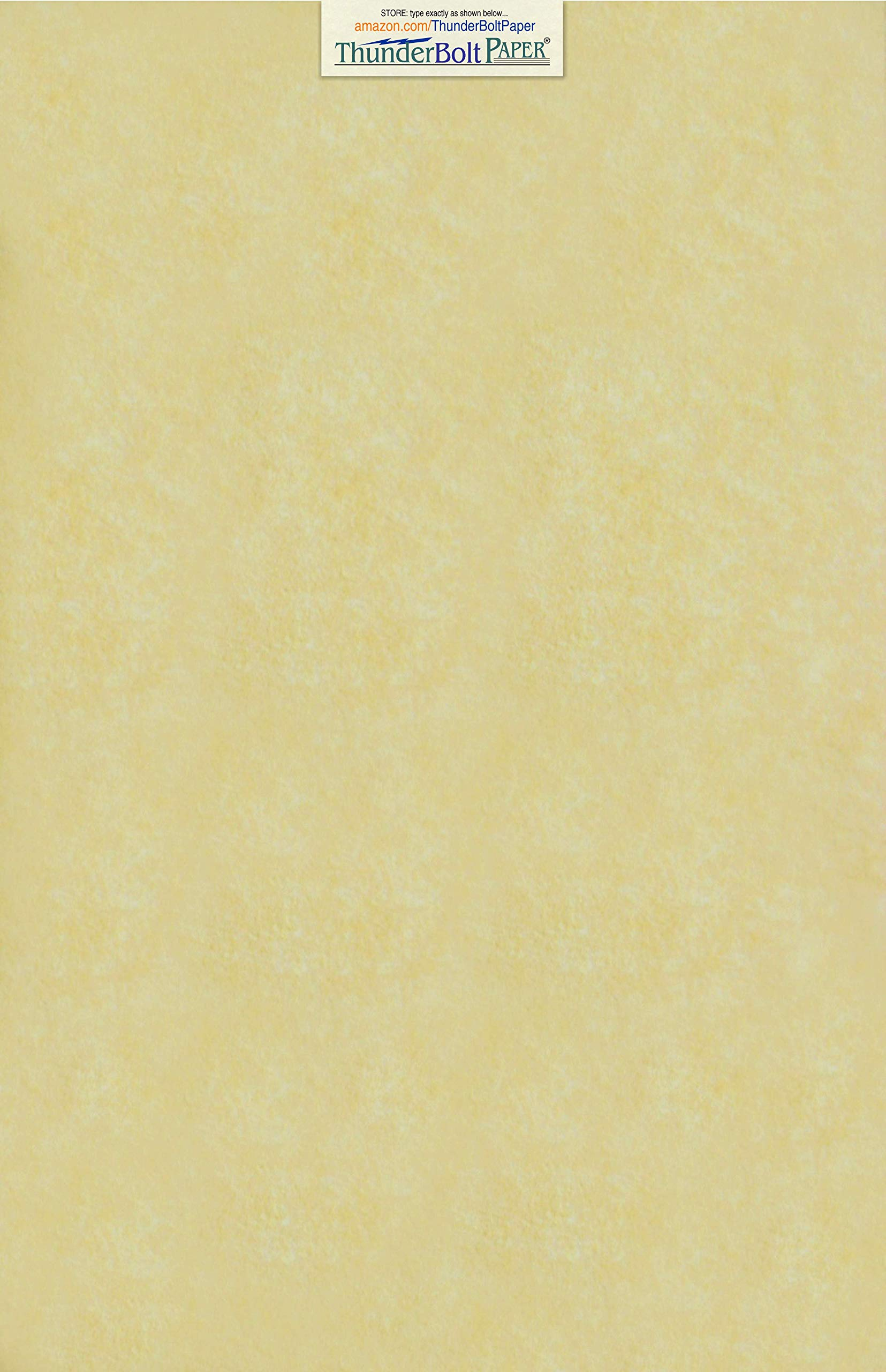 50 Gold Parchment 60lb Text Weight 11 X 17 inches Stationery Paper Colored Sheets Tabloid|Ledger Size -Printable Old Parchment Semblance by ThunderBolt Paper