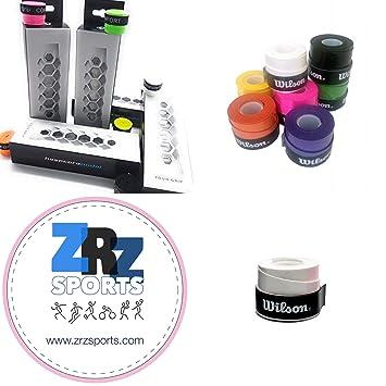 ZRZ Pack Grip Padel HESACORE Tour Grip + 1und overgrip Wilson Confort Blanco: Amazon.es: Deportes y aire libre