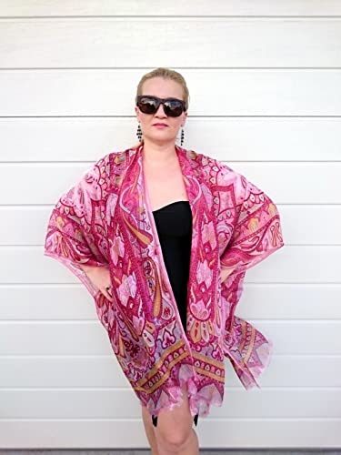 Amazoncom Plus Size Kimono Silk Beach Cover Up Bridesmaid