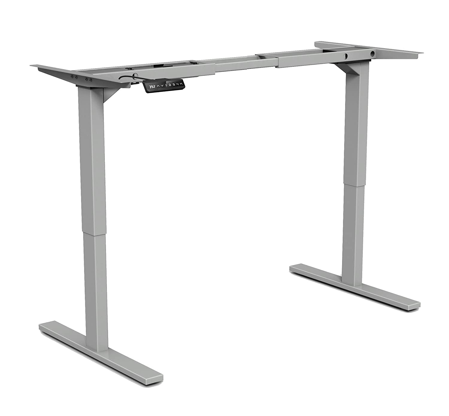 amazon silver base included manual only legs stand adjustable not dp top com workstation standing height down table up frame kitchen desk sit