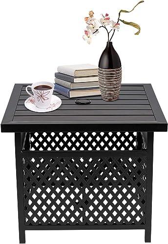 Patiomore Outdoor Patio Umbrella Side Table Stand