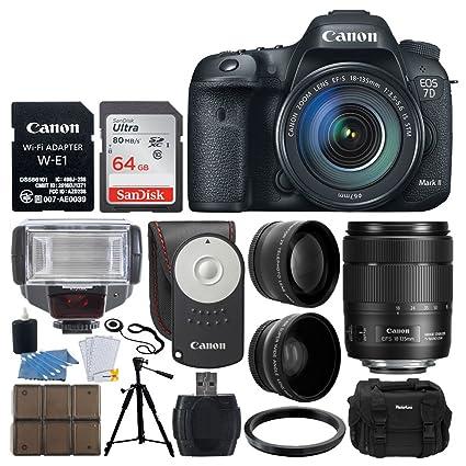 Amazon com : Canon EOS 7D Mark II DSLR Camera with 18-135mm