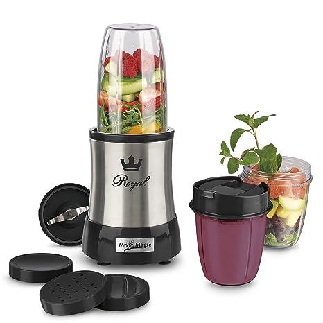 Gourmetmaxx 09833 Batidora Nutrición Profesional Acero Inoxidable, 700 Vatio, Eléctrico Mezclador, Perfecto para Cóctel y Batidos