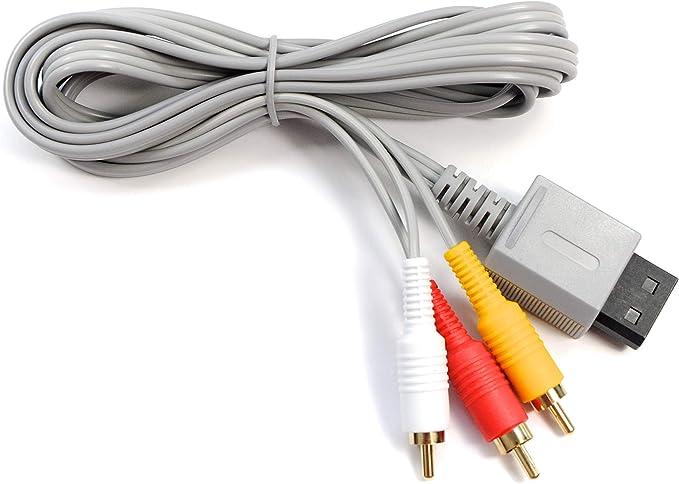 Digital Mole - Cable AV chapado en oro para consolas de Nintendo Wii y Wii U RCA Audio Visual Composite 1.8m TV Lead: Amazon.es: Videojuegos