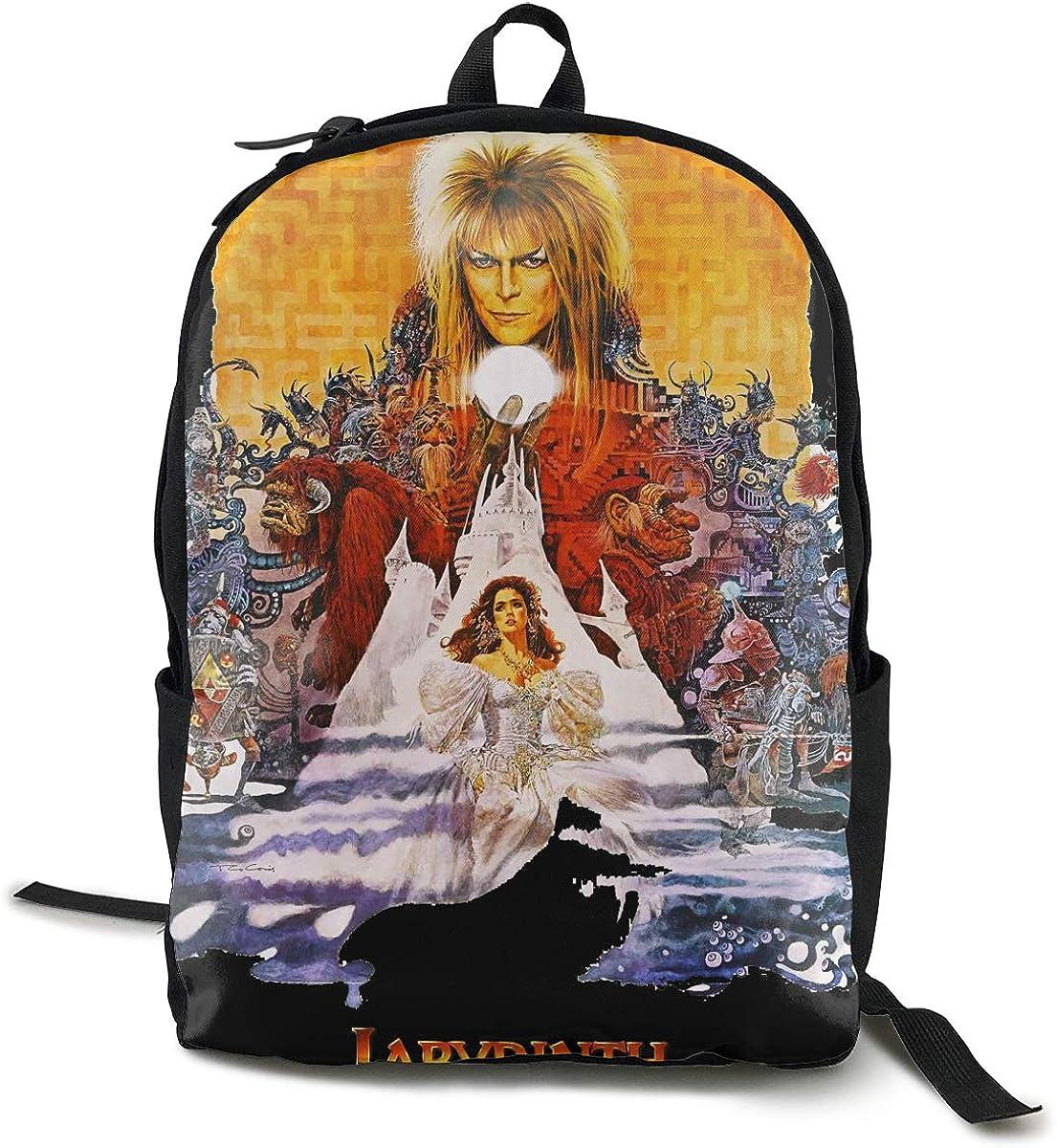 Stephan D Hampton Labyrinth 1986 Unisex Backpack Hiking Backpack Travel Sports Bag