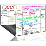 Monthly Magnetic Dry Erase Board Calendar 2019, 15.8 x 11.8 Inches - Your Best Month Goal Setting Planner - Fridge Magnetic Planning Pad, Refrigerator Whiteboard (Upgraded Stain-Resistant Surface)