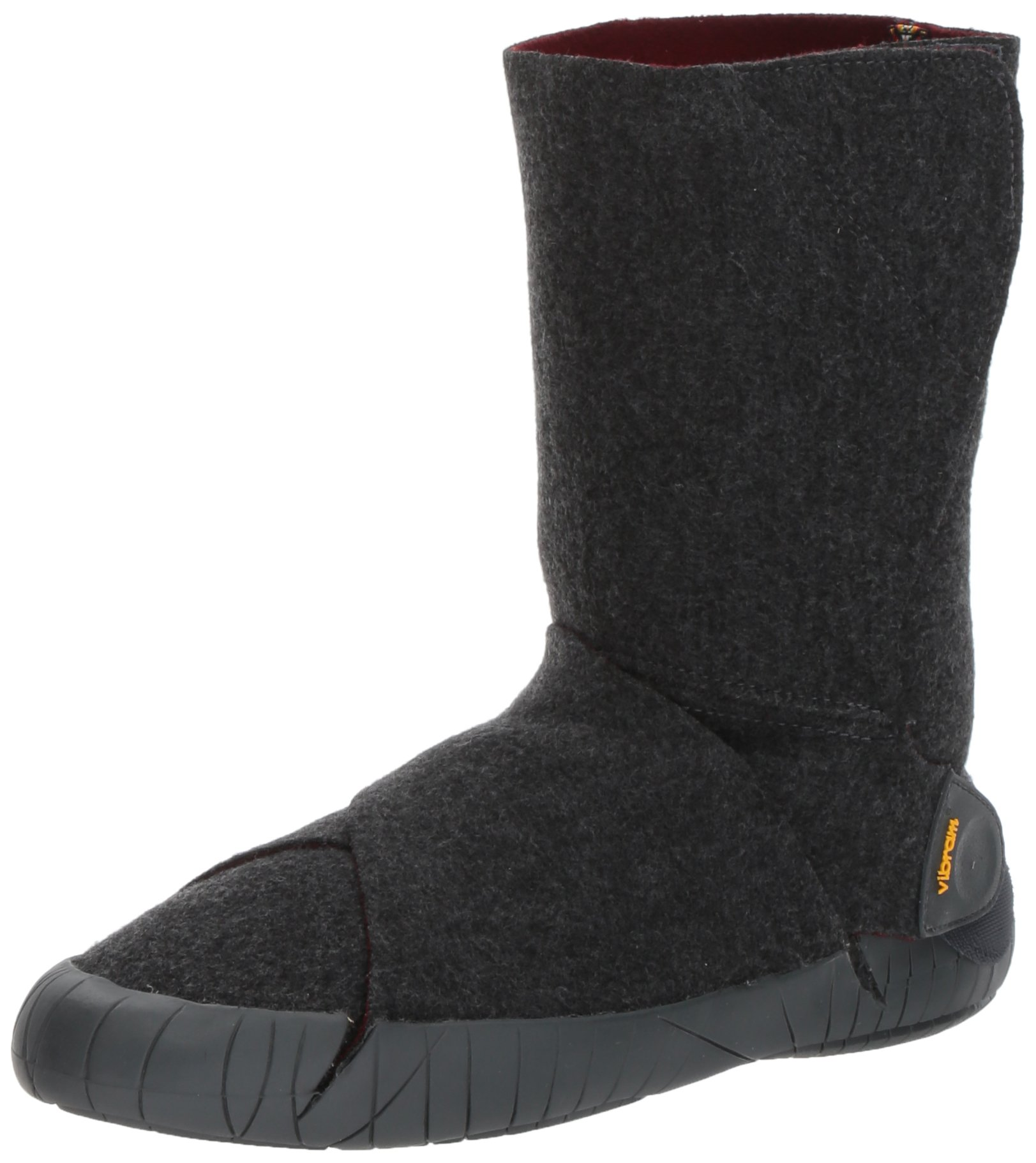 Vibram Furoshiki Mid Boot Russian Felt Sneaker, Grey/Red Wine, EU:40-41/UK Man:6-7.5/UK Woman:7.5-8.5/cm:25-26/US Man:7-8.5/US Woman:8.5-9.5 by Vibram