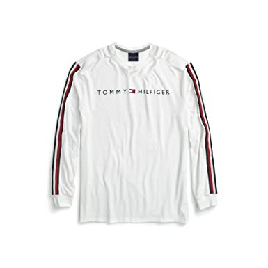 4a2c1a37 Tommy Hilfiger Men's Adaptive Long Sleeve T Shirt with Magnetic Buttons at  Shoulders, Bright White