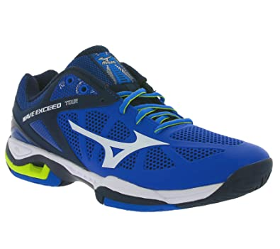 Mizuno Shoes Tennis Officially Wave Exceed Tour AC All Court 61GA165001 Royal Bianco Verdino Size 41 SHIPPED FROM ITALY y8xKgr8