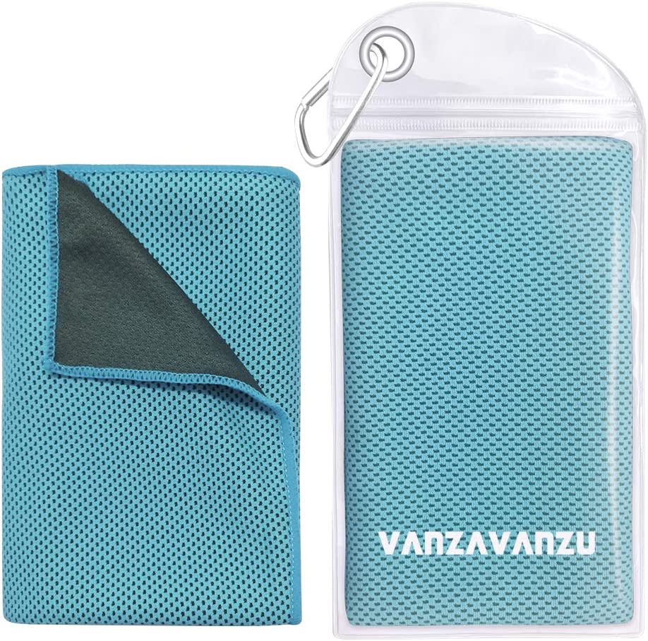 Ice Towel Running Golf Lake Blue Sport Travel Chilly Towel Camping Microfiber Travel Towel 40x12 Inch Ideal Fast Drying Towels for Yoga VANZAVANZU Cooling Towel Fitness Workout /& More