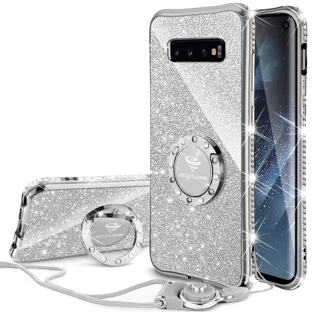 Funda para Samsung S10 Glitter con pie OCYCLONE (7P7FWGRC)