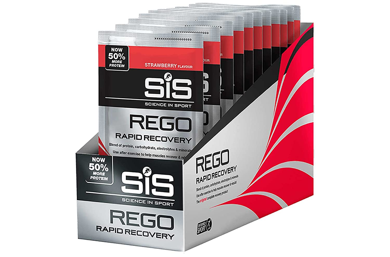SIS 18 x 50g Sachet Science In Sport REGO Rapid Recovery Chocolate
