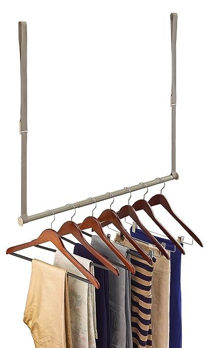 Bon ClosetMaid 31220 Double Hang Closet Rod, Nickel