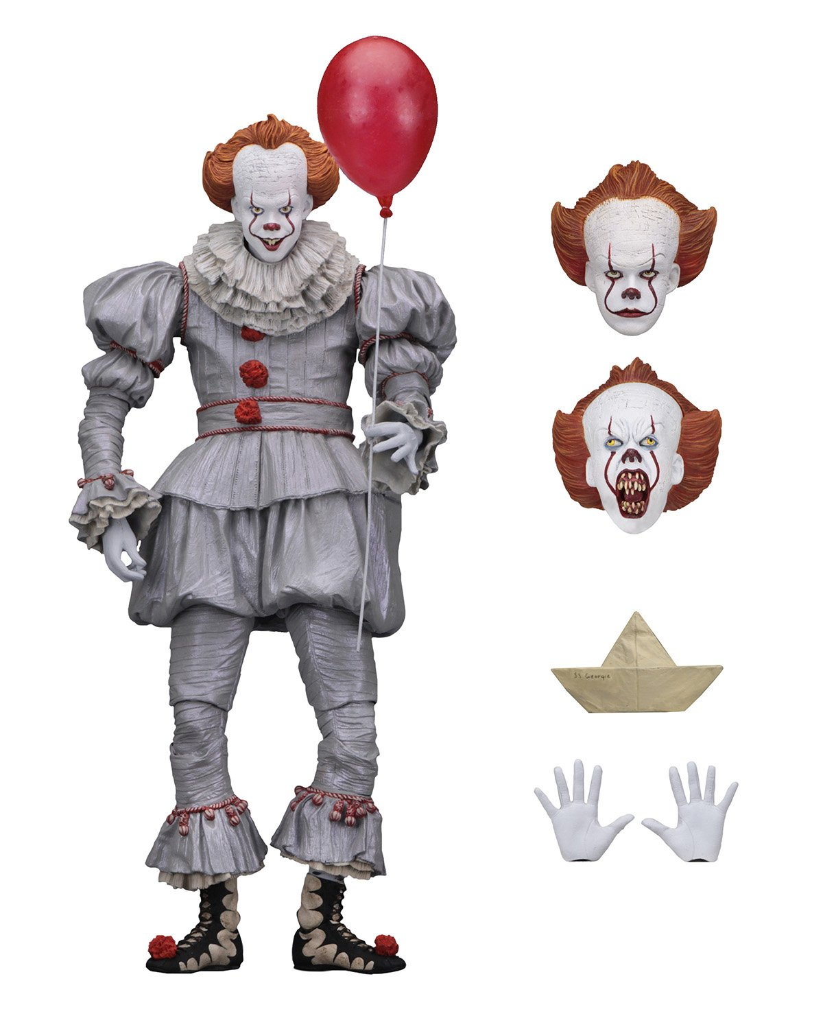 "NECA It 7"" Scale Action Figure Ultimate Pennywise 2017"