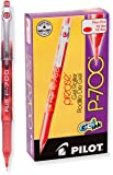 Pilot Precise P-700 Gel Ink Rolling Ball Pens, Fine Point, Red Ink, Dozen Box (38612)