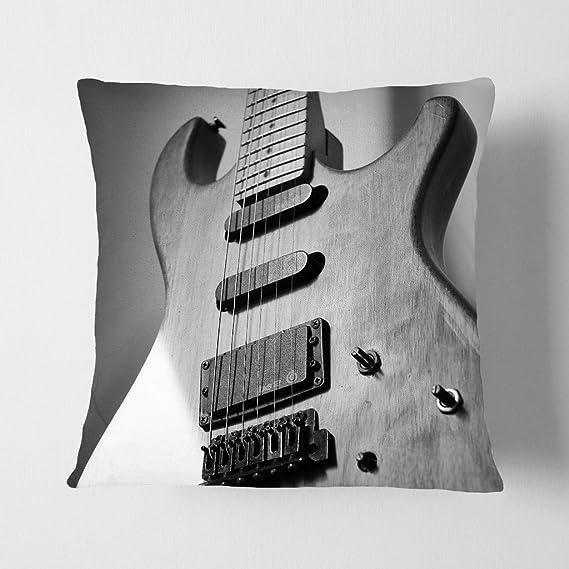 Arty pie cojín y manta funda de almohada guitarra eléctrica: Amazon.es: Hogar