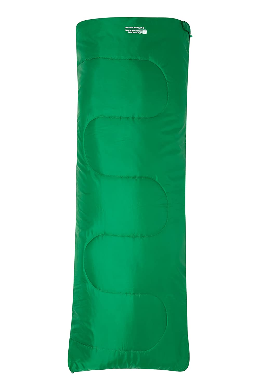 Mountain Warehouse Saco de Dormir Basecamp para Acampar tamaño Mini - 160 x 65 cm, Saco de Acampada de Cuidado fácil para niños, con Aislamiento térmico ...