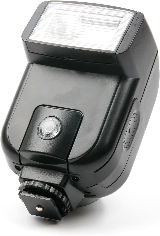 DURAGADGET Professional Hot Shoe Mount Tilting SLR Camera Flash Black Plastic Cover Sony A77 II Sony a7 II Compatible with Sony A65 Sony A7 III Sony a68