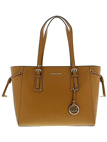 505d23695e Amazon.com  MICHAEL Michael Kors Voyager Medium Leather Tote (Acorn)  Michael  Kors  Shoes
