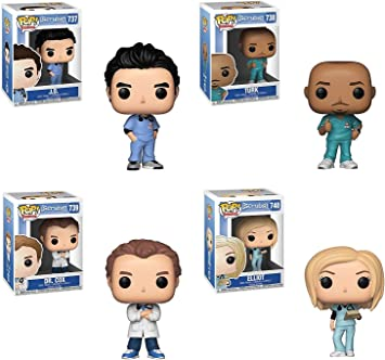 FunkoPOP Scrubs: J.D/Elliot/Turk and Dr. Cox 4 Pack: Amazon.es ...