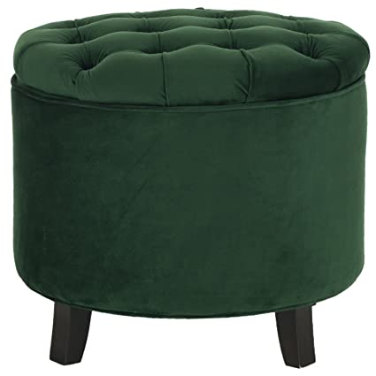 Delicieux Safavieh Hudson Collection Amelia Tufted Storage Ottoman, Emerald