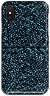 ERQINGT Etui pour Téléphone Portable Simple pour Iphonex Cas De Téléphone Portable Brillant 6S Point Bleu 7 Ultra-Mince 8Plus Coque De Protection Personnalité Couple Coquille Dure