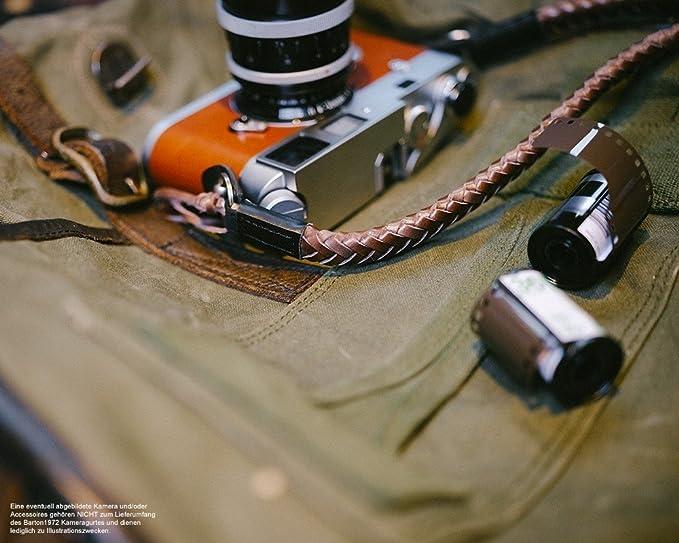 Barton 1972 | JIANYING correa de cámara de piel trenzada | Original cámara hombro Correa The Vector Natural la Foto Design Studio Annie Barton | correa: ...