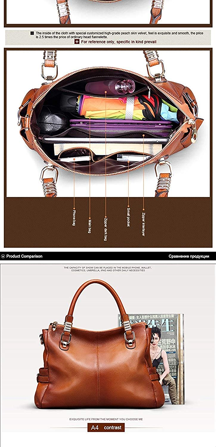 Zhao Liang Genuine Leather Women Handbags Totes Vintage Crossbody Messenger Bags Cow Leather Sprayed Color