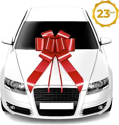 Mata1 - Lazo grande para coche (58,4 cm, 1 paquete), lazos gigantes de regalo, lazo grande