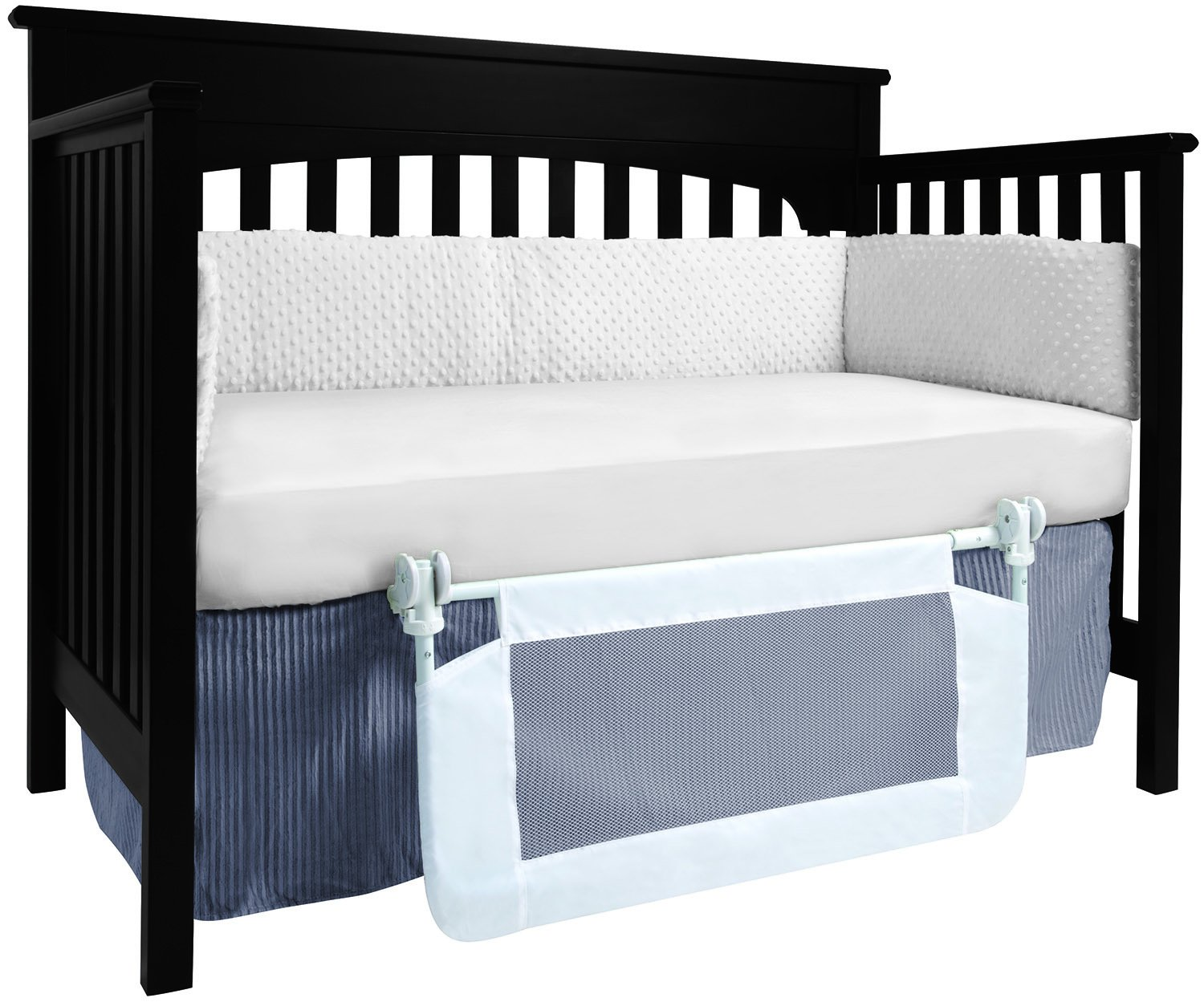 Amazon Hiccapop Convertible Crib Toddler Bed Rail Guard With Reinforced Anchor Safety Baby