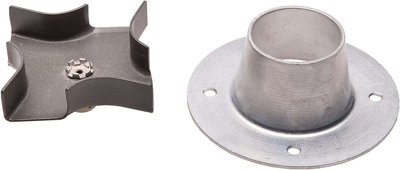 Moultrie Metal Spinner Plate & Funnel Kit | Powder-Coated Metal | 4 outlets