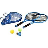 Hudora 75004 Tennisset Junior, 2 Schläger und drei Bälle