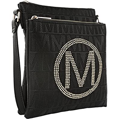 b9f43ead6e3 Image Unavailable. Image not available for. Color: MKF Collection Genoa M  Signature Crossbody Bag by Mia K Farrow