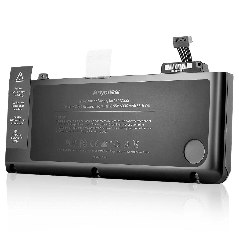 Anyoneer A1322 6000mAh batería del ordenador portátil súper capacidad de Apple MacBook Pro 13
