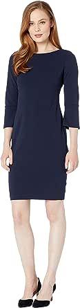 Calvin Klein Women's Petite Sleeveless Starburst Sheath Dress, Black, 4P