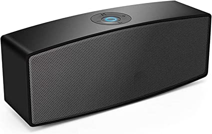 Portable Bluetooth Speakers,Dual-Driver Wireless Speaker with Surround Stereo Sound and More Bass,for iPhone and Samsung Android … (Black)