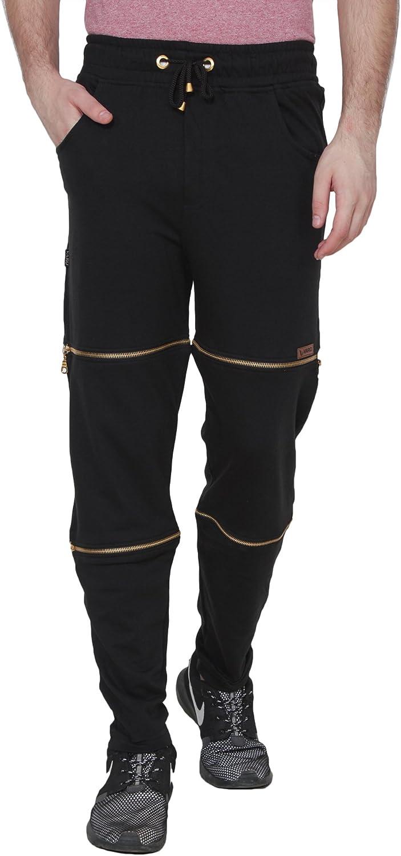 Varo Mens Cotton Blend Designer Trackpants