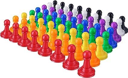 Plástico de Multicolor Juego de Tablero,1 Pulgadas Juego peones Piezas de Mesa marcadores de Mesa: Amazon.es: Oficina y papelería